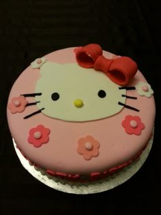 Hello Kitty cake for Victoria.
