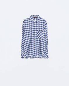 ZARA - WOMAN - GINGHAM CHECKED SHIRT