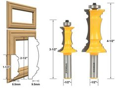 41 best router bit profiles images in 2019 woodworking tools rh pinterest com