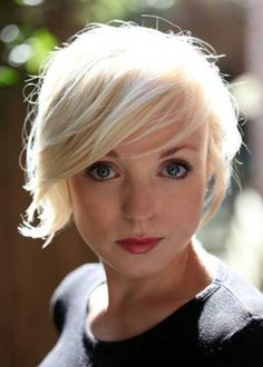 New Short Blonde Hairstyles | 2013 Short Haircut for Women  I'd like this style for my wedding... I better start growing lol