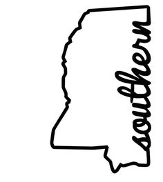 """New to FransEverythingShop on Etsy: Mississippi Outline Decal with The Phrase """"SOUTHERN"""" Mississippi State Vinyl Decal (6.00 USD)"""