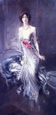 Portrait of Madame E. L. Doyen - Giovanni Boldini