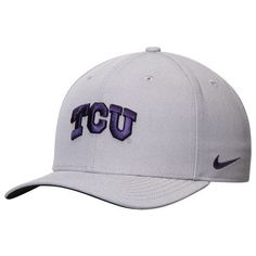 acd47e8cb68 TCU Horned Frogs Nike Wool Classic Performance Adjustable Hat - Gray