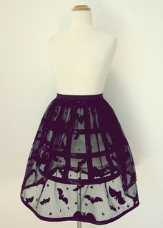 Sheer bat skirt