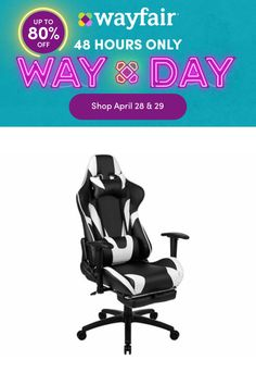 Inbox Zero Surpass your game achievements when you are seated comfortably atop this racing gaming chair with an extended footrest to properly elevate your feet. Designed to give you the ultimate gaming experience this computer game chair has a reclining back with adjustable lumbar support. If you need support, you have a headrest pillow and lumbar pillow that are adjustable and can be removed by unsnapping while the adjustable pivot arms offer pressure relief from your upper body. Gamers need er Gaming Computer, Gaming Chair, Game Zero, Pc Racing Games, Footrest, Upper Body, Lumbar Pillow, Arms, Products