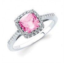 Pizazz Collection - Diamond and Semi Precious Pink Tourmaline Ring
