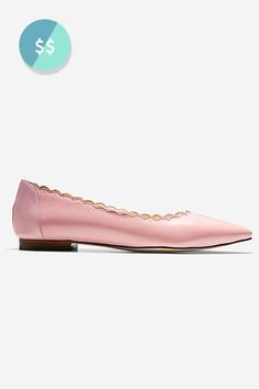 The Shoes You Need To Own Before You Turn 30 #refinery29  http://www.refinery29.com/shoes-every-woman-should-own#slide-17  The scalloped edges make these pink flats unique.