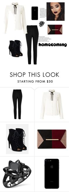 """Homecoming"" by taissasilva ❤ liked on Polyvore featuring River Island, Lipsy, JustFab and Dune"