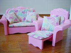 Barbie - Sweet Roses Couch and Lounge Chair, 1987