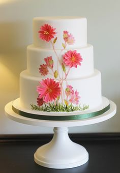 Bitterroot Wedding Cake | I had wanted to do a painted weddi… | Flickr