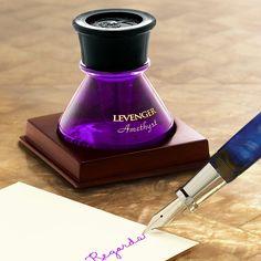 Levenger Bottled Ink - Amethyst.  Bright purple, great for underlining/editing
