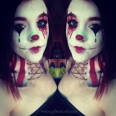 Clown makeup inspired by American horror story