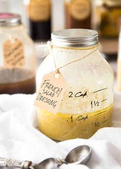 French Salad Dressing (French Vinaigrette) - Made with olive oil, mustard, white wine vinegar and eschalot/shallot. Keeps for up to 2 weeks. www. Vinaigrette Salad Dressing, Vinegar Dressing, Salad Dressing Recipes, Vinaigrette Recipe, Mustard Salad Dressing, French Salad Dressings, Champagne Vinegar, White Wine Vinegar, Champagne Vinaigrette