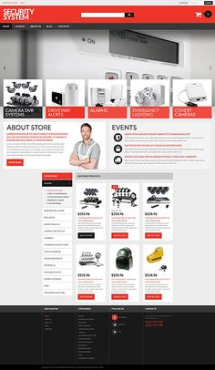 Security Systems Online Store #Virtuemart #template. #themes #business #responsive