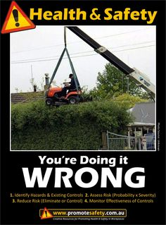 Health & Safety - You're Doing it Wrong Work at Height. Hedge Trimming.