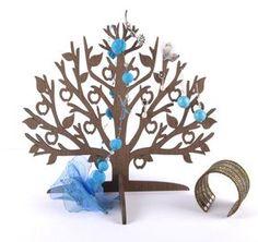 Titulaire d'arbre en bois de bijoux / boucle d'oreille / Support à Bijoux / Bijoux Organisateur