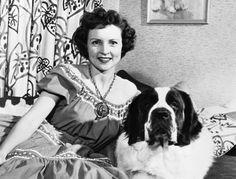 Betty White and her St Bernard  :D
