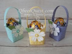 Qbees Quest: Easter Basket with Embossing Folders 2