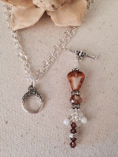 Crystal Me Brown Beaded Dangle Necklace just attach Beaded Dangle to Chain. One of many Beaded Dangles available.