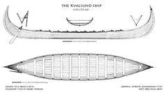 Han rekonstruerte skipet på Diagram of the Kvalsund ship from 690 AD. This ship is a predessor of the viking longships.