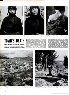 "LIFE Magazine / Distomo massacre 1944 ""Her baby was in her arms when a German soldier shot him in the head. The scar on her shoulder is where the bullet went through. World History Facts, Greek Soldier, Greek History, World War One, Life Magazine, Military History, Wwii, Cool Pictures, Delphi Greece"