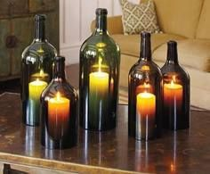 DIY Lighting Using Wine Bottles! 2 - https://www.facebook.com/different.solutions.page