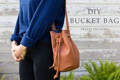 DIY Leather Bucket Bag - step by step Photo tutorial - Bildanleitung