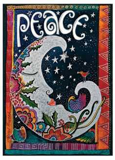"""""""Peace""""; part of @Paperblanks' Laurel Burch Playful Creations collection of writing journals"""