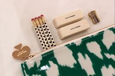 """How adorable is this pencil and pen case by kate spade new york!? The eraser says """"To err is human."""" LOVE!"""
