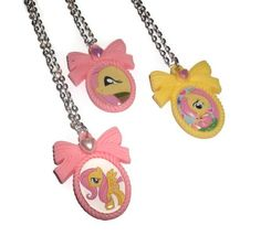My Little Pony Cameo Fluttershy Necklace by KitschBitchJewellery, $11.99