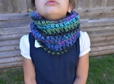 Crochet  Cowl Scarf Colorful Ombre Cowl For by FarahsAttic on Etsy, $12.00