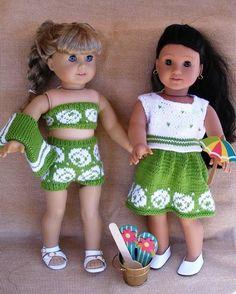 (6) Name: 'Knitting : AT THE BEACH Dolls knitting pattern