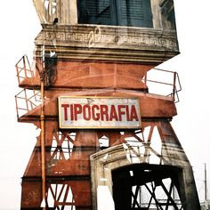 Typography shop in #Rome meets the cranes of #Bristol. #doubleexposure #analog #photography #cranes #tipografia #Italy