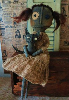 OOAK*pRiMiTiVe*BlAcK*gRuNgY*fOlK*aRt*rAg*DoLL-- PRIM MANOR