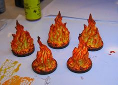 Fire effects markers for your #tabletop & #RPG #gaming. Check out James Wappel's site for lots of good ideas and inspiration!