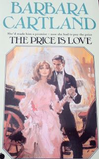 The Price is Love is the second of the Sphere books published in the UK. This book was printed in 1980. It is about Dacia, who travels to Rome with Sir Marcus as his nurse after an accident lands him at her doctor father's house. She's not excited about the prospect since he's a difficult patient, but falls in love with Rome and maybe with Sir Marcus!  Francis Marshall shows our couple getting out of a horse drawn carriage near the Trevi (?) fountain in Rome.