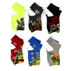 Nickelodeon TMNT Teenage Mutant Ninja Turtles Boys 6 pk Socks. Great gift for Valentine's Day or Easter! www.YankeeToyBox.com #yankeetoybox #ytb #nickelodeon #tmnt #ninjaturtles #teenagemutantninjaturtles Donatello (Donny), Michelangelo (Mikey), Raphael (Raph), and Leonardo (Leo)