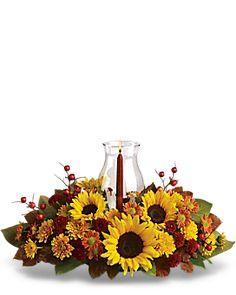 Sunflower Centerpiece Container Arrangement