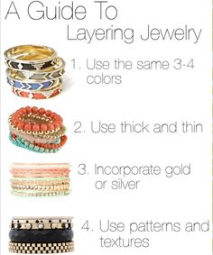 layering jewelry via FashionableLab.blogspot.com   kaseyjewels.mypremierdesigns.com