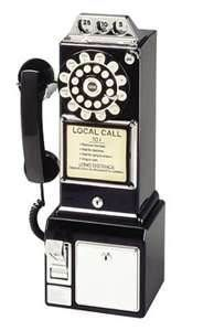 1960s - phone calls were a dime. Sometimes you could cheat and use a nickel and hit change return quickly as the coin fell and you got a dialtone for 5 cents