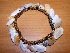 Bracelet - Coquina Shells with Tigereye Beads