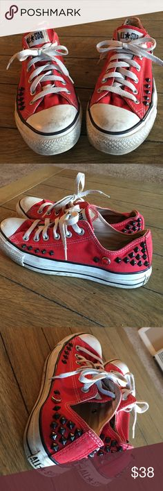 One Of A Kind Studded Converse All Stars Chucks