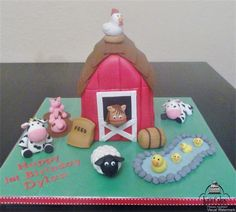 Carved Barn Cake and edible figures