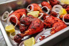 Tandoori Chicken is full in flavor and is also one of the most popular dish in Indian Cuisine - Maya Kitchenette Tandoori Masala, Garam Masala, Chicken Cauliflower, Keto Chicken, Chicken Legs, Roasted Chicken, Indian Food Recipes, Ethnic Recipes, Indian Foods