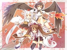 Cute group picture of the tengu.