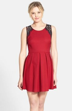 ba5251c5851f Lush Lace Trim Pleated Skater Dress (Juniors)  46 Valentines Day Dresses