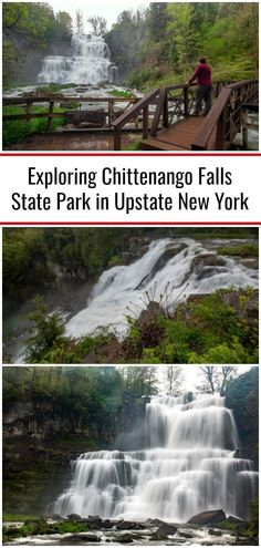 Located just 35 minutes east of downtown Syracuse is one of the most impressive waterfalls in Central New York: Chittenango Falls.Chittenango Falls is the centerpiece of Chittenango Falls State Park in Madison County. Ny Parks, New York State Parks, York Things To Do, Places In New York, New York Travel Guide, New York City Travel, Syracuse New York, Upstate New York, Chittenango Falls