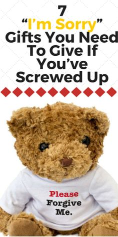 """7 """"I'm Sorry"""" Gifts You Need To Give If You've Screwed Up - A Couple Of Gifts"""