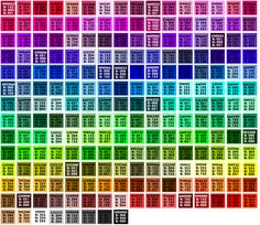 Web safe colors organized by hue - Linda Weinman. As she points out, these are more of a historical oddity than a necessary concern. But always fully understand your audience and their equipment before selecting colors. We've run into this issue with smaller manufacturing facilities.