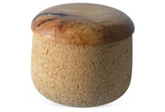One Kings Lane - Objects Handcrafted to Last - Cork Bowl w/ Wood Lid, Large